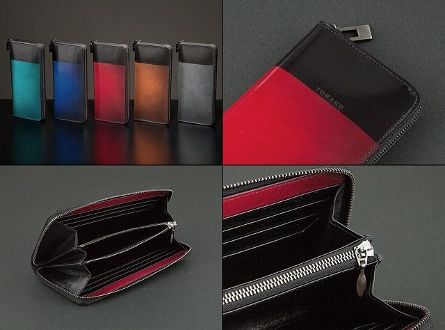 YUHAKUのビコロールシリーズのラウンドファスナー長財布