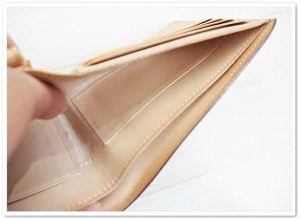 インペリアルパースの札入れのエイジング画像
