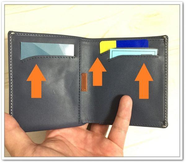 NoteSleeve のメインカードポケット