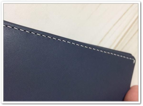 NoteSleeve の縫製部分