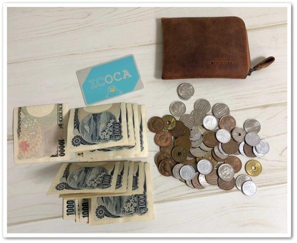 ナポレオン・ボナパルトL字ファスナーに入っていた小銭