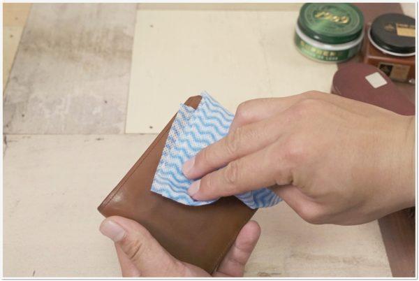ブライドルレザーの二つ折り財布をメンテナンス (13)
