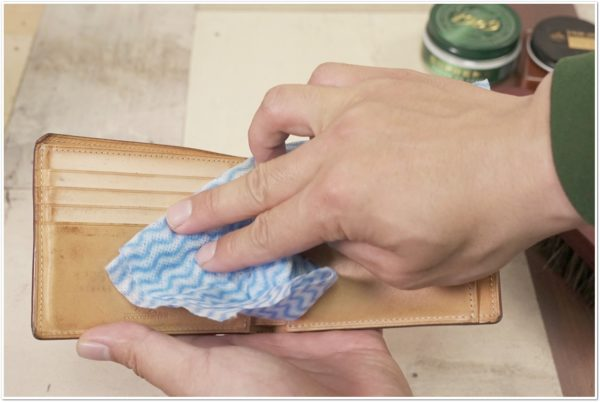 ブライドルレザーの二つ折り財布をメンテナンス (15)