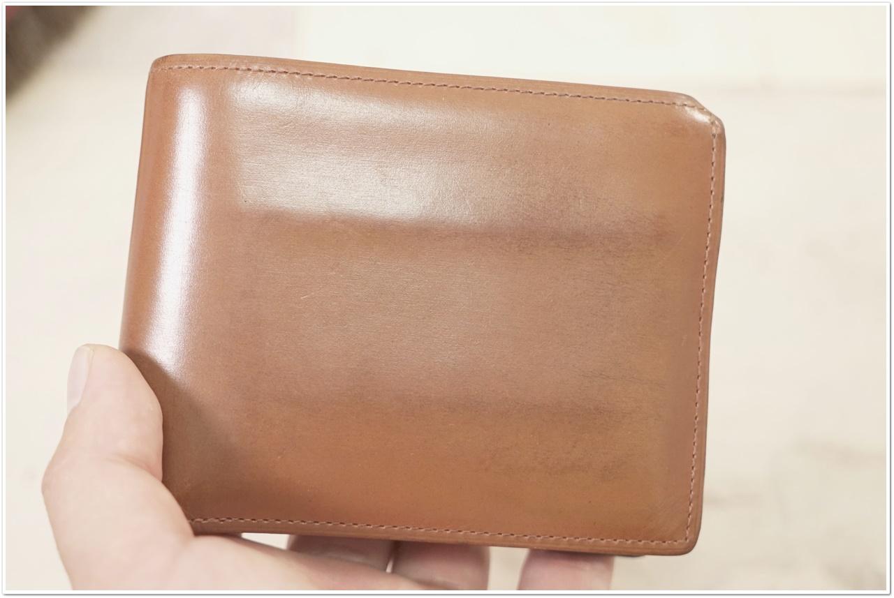 ブライドルレザーの二つ折り財布をメンテナンス (2)