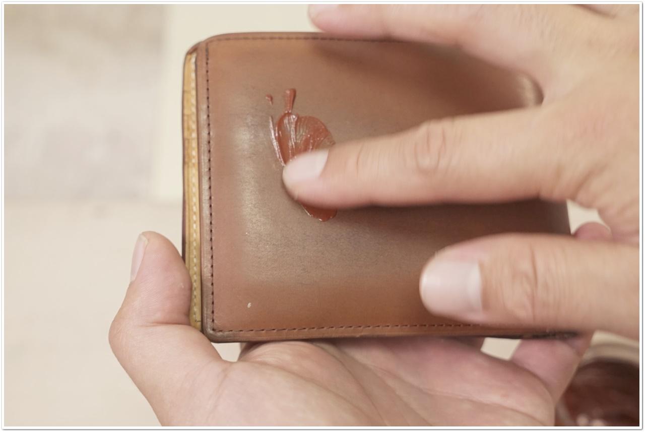 ブライドルレザーの二つ折り財布をメンテナンス (24)