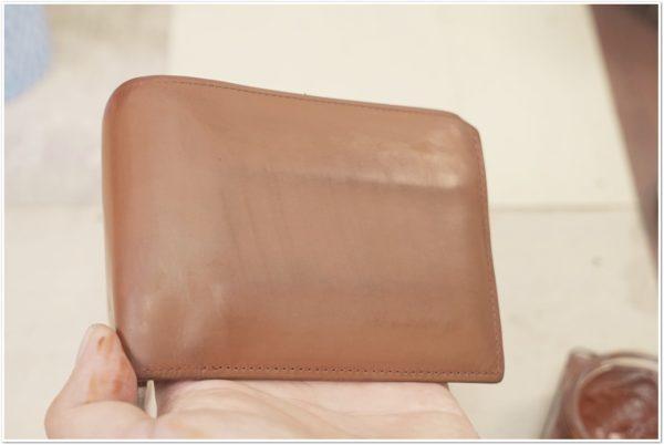 ブライドルレザーの二つ折り財布をメンテナンス (26)