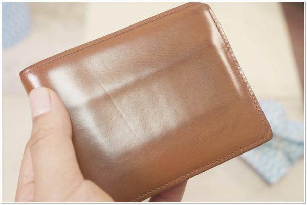 ブライドルレザーの二つ折り財布をメンテナンス (29)