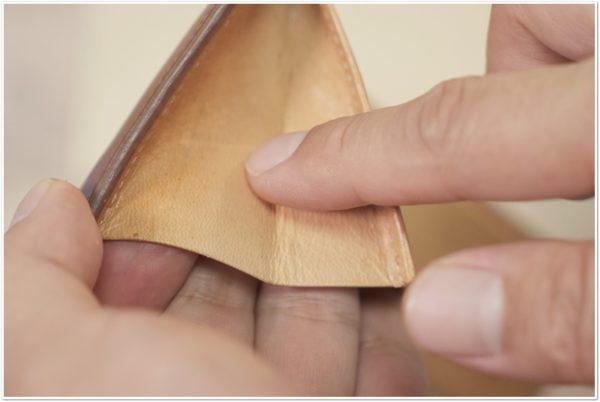 ブライドルレザーの二つ折り財布をメンテナンス (35)