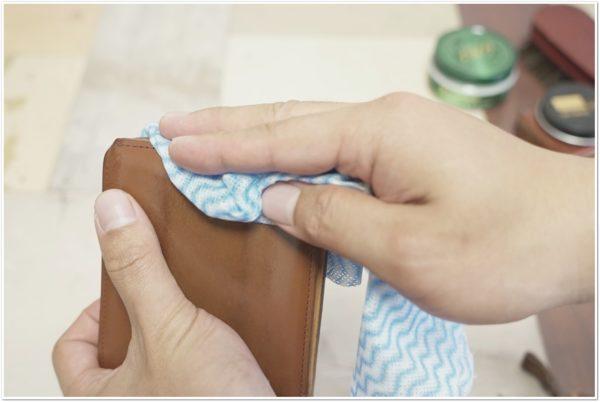 ブライドルレザーの二つ折り財布をメンテナンス (40)