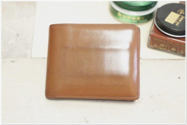 ブライドルレザーの二つ折り財布をメンテナンス (46)