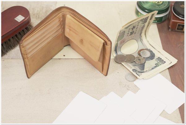 ブライドルレザーの二つ折り財布をメンテナンス (5)