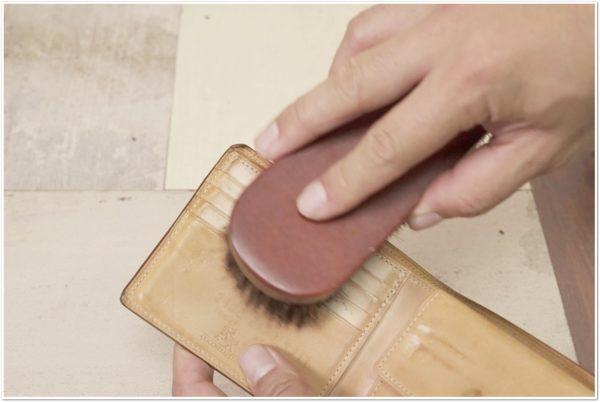 ブライドルレザーの二つ折り財布をメンテナンス (8)