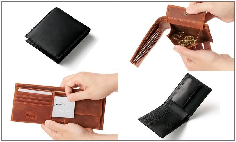 ココマイスターのナポレオンカーフのボナパルトパース二つ折り財布