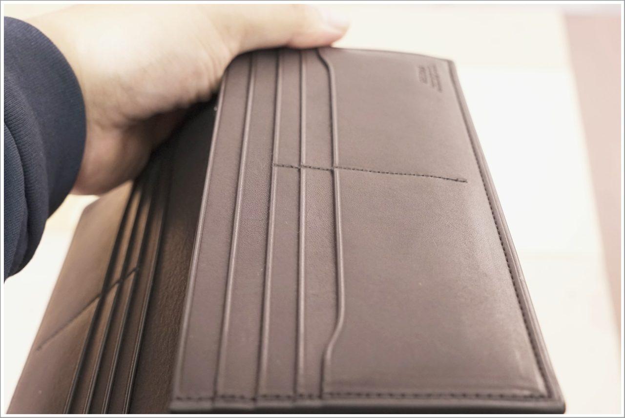 アドバンレザー長財布の念引き