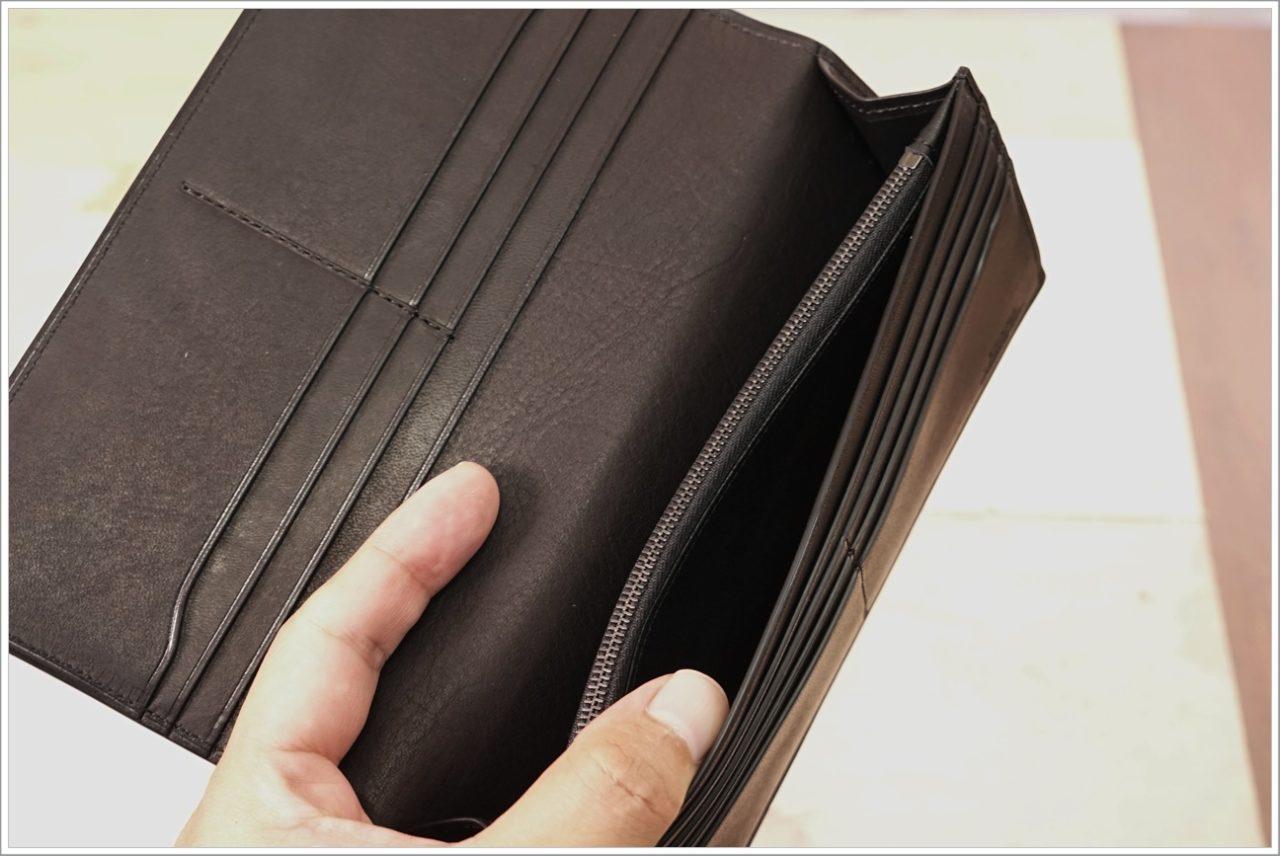 アドバンレザー長財布のフリーポケット