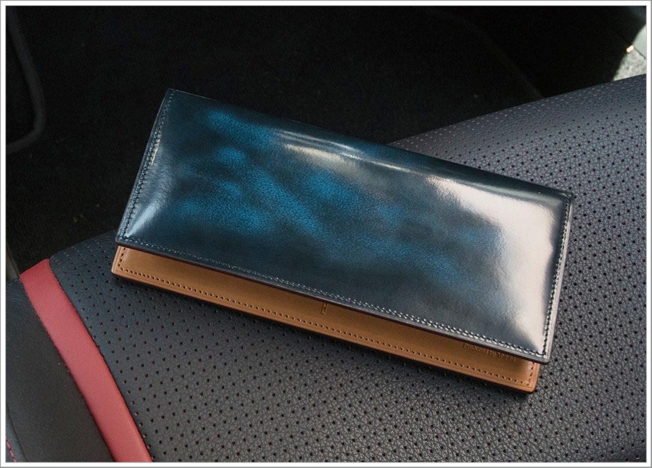 FESONの青いアドバンレザー長財布