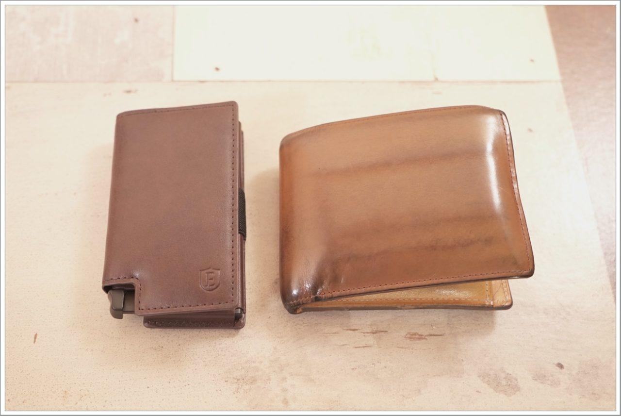 エクスターウォレットのパーラメントウォレットを財布と比較