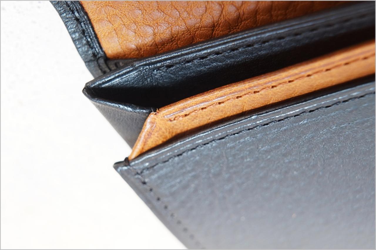 ディアレスト長財布のカブセ束入れN01の風琴マチ3