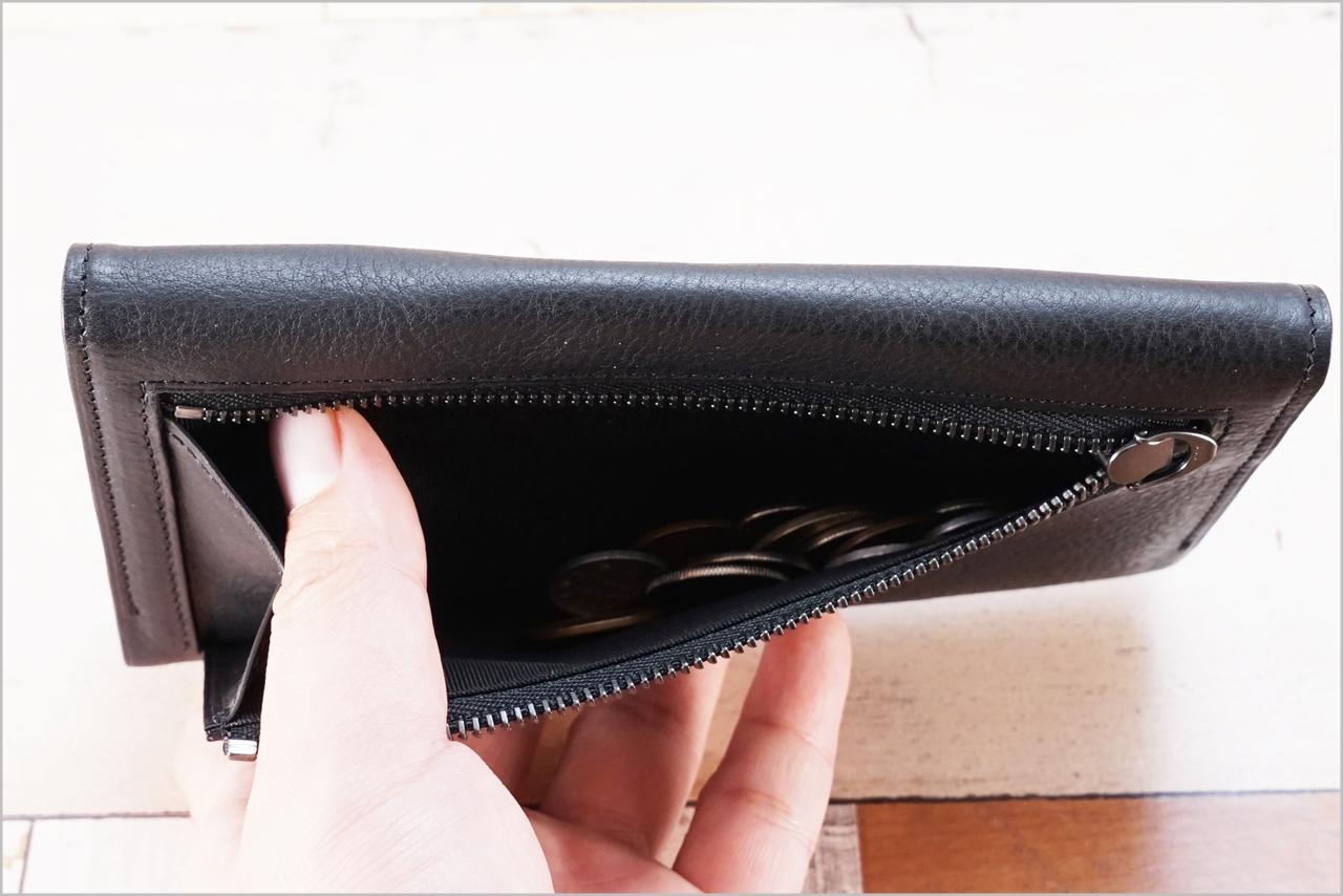 ディアレスト長財布のカブセ束入れN01の小銭入れ中身有りバージョン
