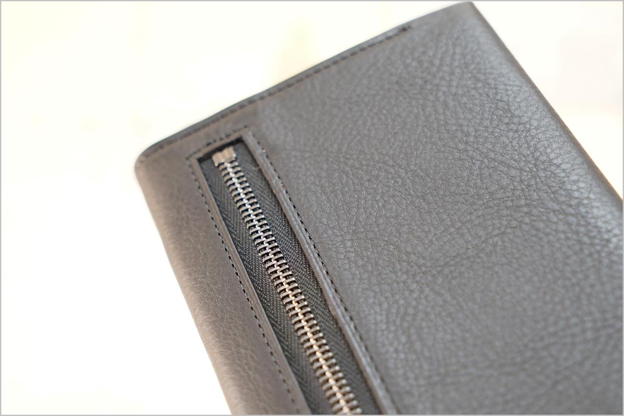 ディアレスト長財布のカブセ束入れN01のファスナー
