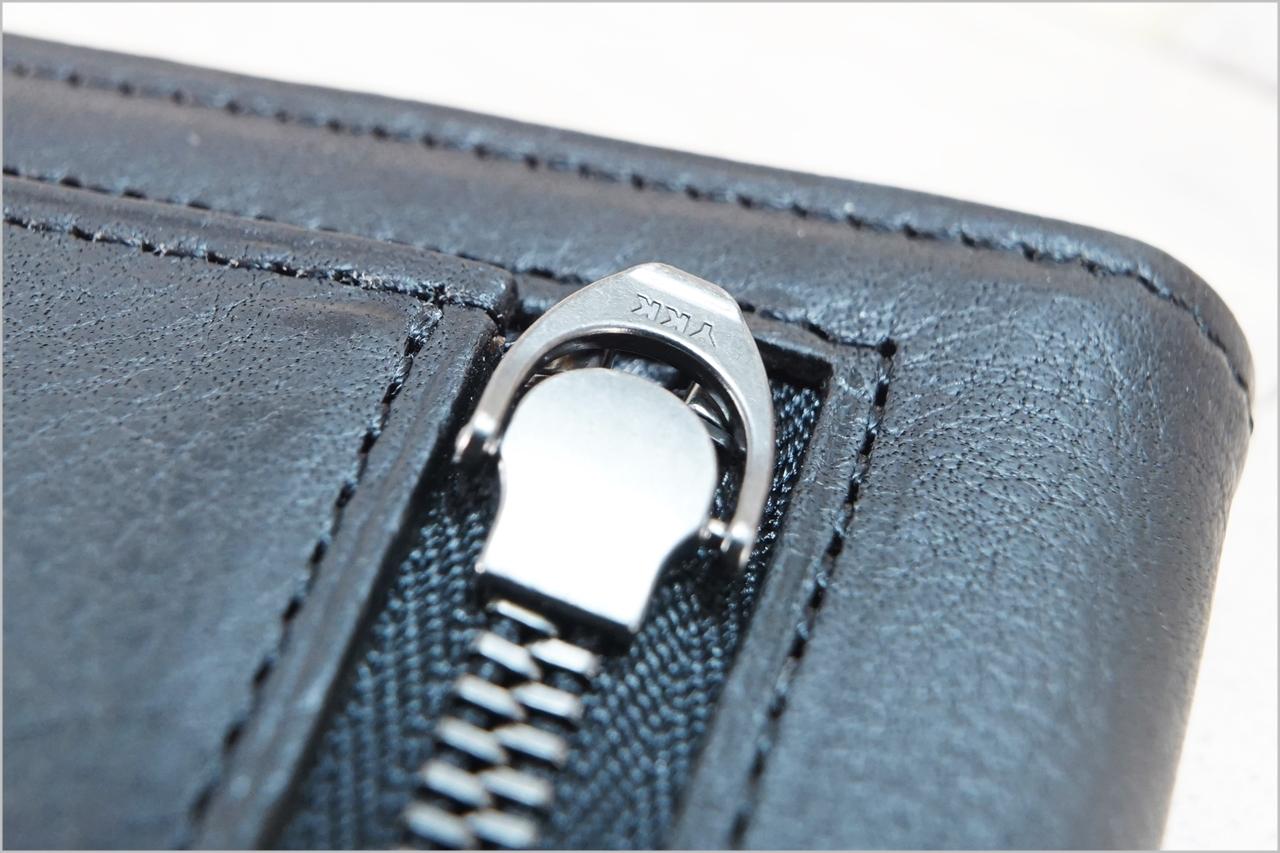 ディアレスト長財布のカブセ束入れN01のファスナー引手